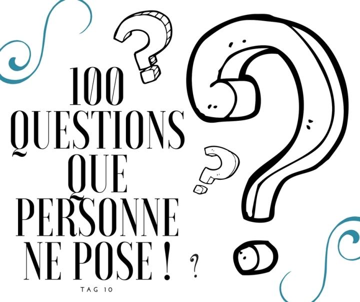 TAG #10 : Les 100 questions que personne ne pose!