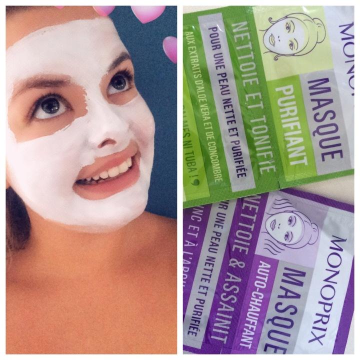 Je teste les masques visage monoprix!