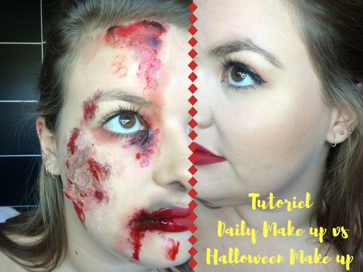 TUTO #6 : Daily Make up VS Halloween Make up !